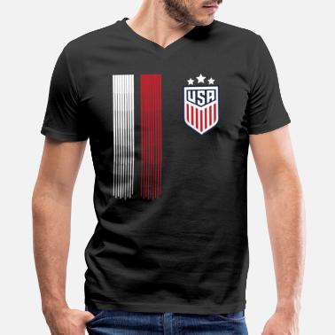 Usa Women Soccer USA Team 2019 World Tournament Tshirt - Men's V-Neck T-Shirt