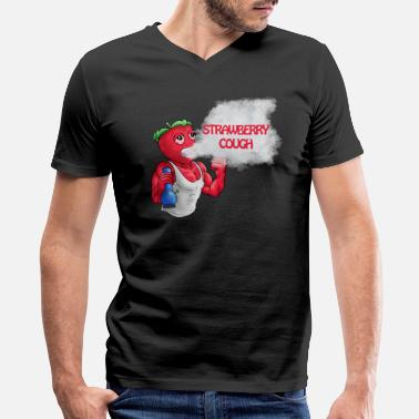 Cough Strawberry cough - Men's V-Neck T-Shirt by Canvas