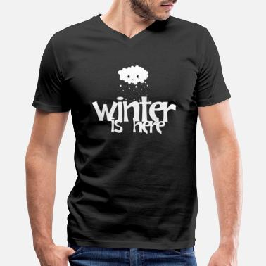 Coat Winter Is Here - Men's V-Neck T-Shirt