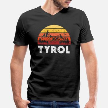 Tyrol Tyrol Austria - Men's V-Neck T-Shirt by Canvas