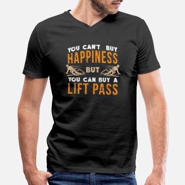 Ski Resort Ski Ski Resort Happiness - Men's V-Neck T-Shirt