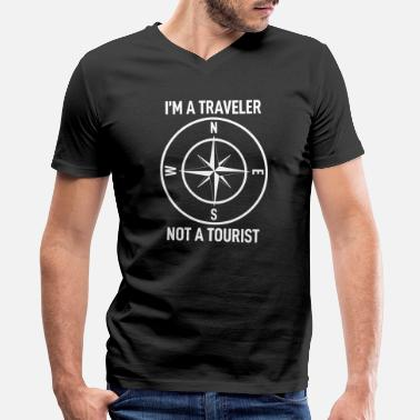 Tourist Traveling Tourist - Men's V-Neck T-Shirt