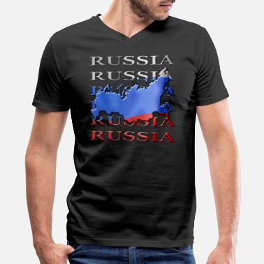 Russia Designer Russia - Men's V-Neck T-Shirt by Canvas