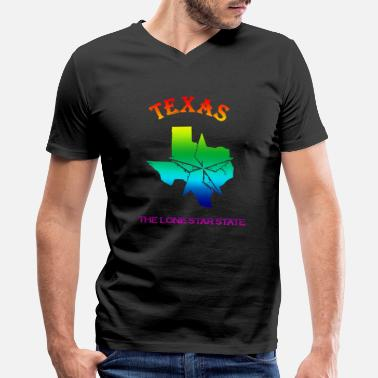 My Home State Texas State Is My Home Longhorn Design 7 - Men's V-Neck T-Shirt by Canvas
