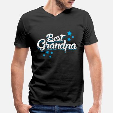 Best Grandpas Best Grandpa is my grandpa - Men's V-Neck T-Shirt by Canvas