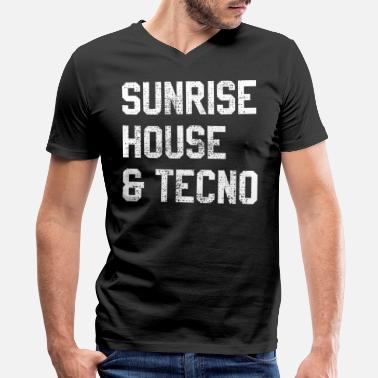 House House music techno afterhour - Men's V-Neck T-Shirt
