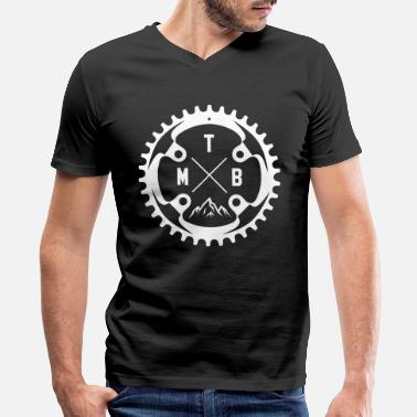 Mountain Bike Mtb Mountain Bike MTB - Men's V-Neck T-Shirt