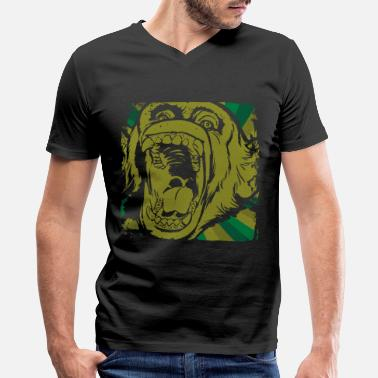Animal Rights Monkey animal rights - Men's V-Neck T-Shirt