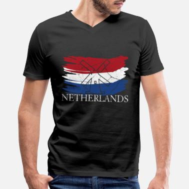 Dutch Amsterdam Netherlands Holland gift Amsterdam dutch - Men's V-Neck T-Shirt by Canvas