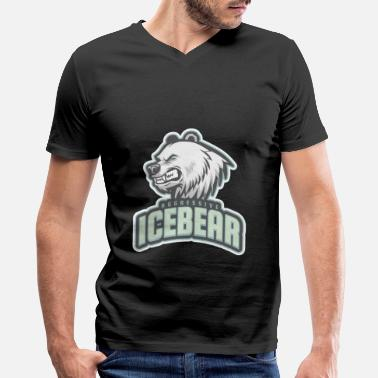 Aggressive aggressive icebear - Men's V-Neck T-Shirt