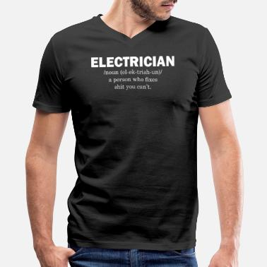 Electrician Electrician - Men's V-Neck T-Shirt