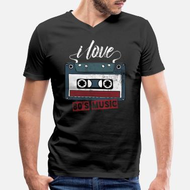 Retro 80s music retro - Men's V-Neck T-Shirt