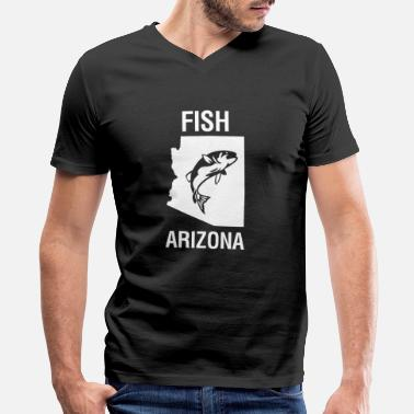 Design Fish Arizona Fishing design | Funny Fishing - Men's V-Neck T-Shirt
