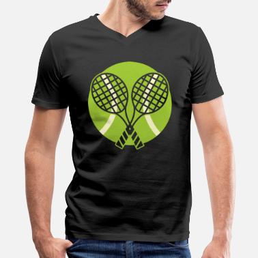 Tennis Racket Tennis Tennis Racket - Men's V-Neck T-Shirt