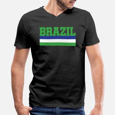 Brazil Designs Brazil design - Men's V-Neck T-Shirt by Canvas