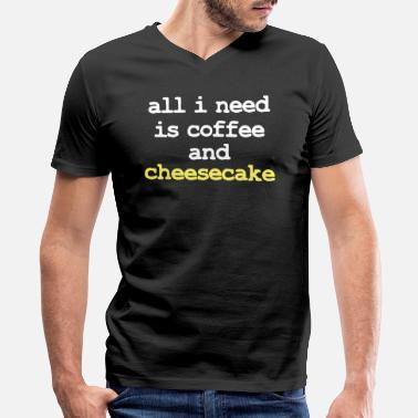 Cheesecake Cheesecake - Men's V-Neck T-Shirt