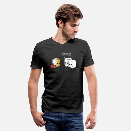Marshmallow T-Shirts - Marshmallow Tan - Men's V-Neck T-Shirt black