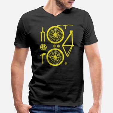Bike Bicycle Parts Two-wheeler Specialized Hobby Crafti - Men's V-Neck T-Shirt