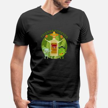 Group Tequila Lime Friends Forever Drink - Men's V-Neck T-Shirt
