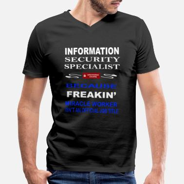 Network Security Information Security Specialist - Men's V-Neck T-Shirt by Canvas