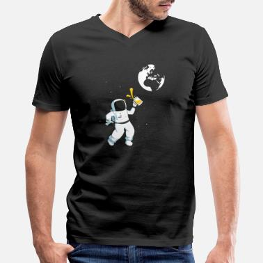 Space-craft Craft Beer Astronaut - Men's V-Neck T-Shirt by Canvas