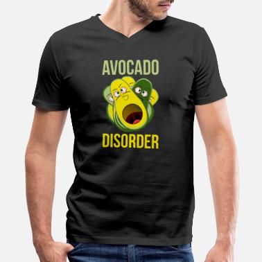 Disorder Avocado Disorder Funny Food Tshirt - Men's V-Neck T-Shirt