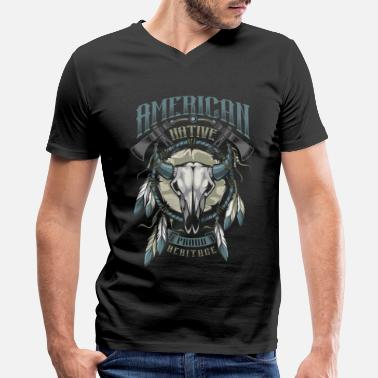 American Indian American Indian - Men's V-Neck T-Shirt