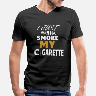 Smoker Cigarette smoker shirt - Men's V-Neck T-Shirt