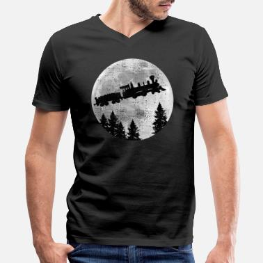 Steam Locomotive steam locomotive - Men's V-Neck T-Shirt