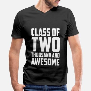 Awesome Two Class of Two Thousand and Awesome - Men's V-Neck T-Shirt