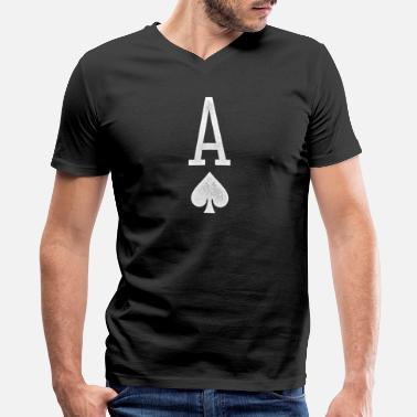 Ace Of Spades A of Spades(white) - Men's V-Neck T-Shirt