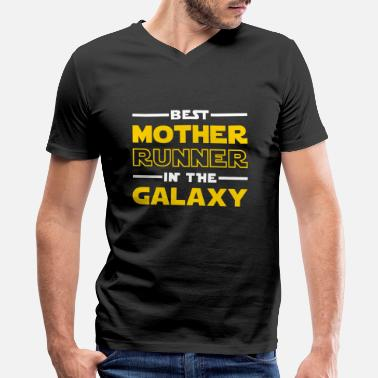 Half Marathon Best Mother Runner In The Galaxy - Men's V-Neck T-Shirt