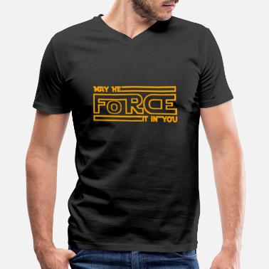 Daddy Gay Side Of The Force - Men's V-Neck T-Shirt