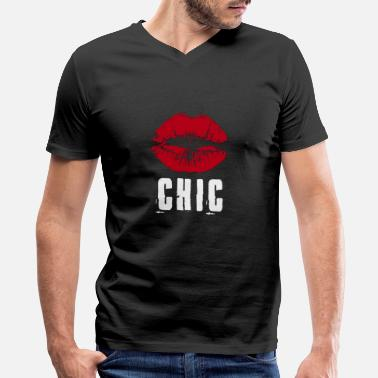 Chic Chic - Men's V-Neck T-Shirt