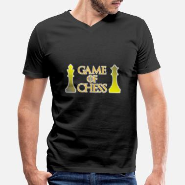 For Chess Game of Chess - Chess - Men's V-Neck T-Shirt