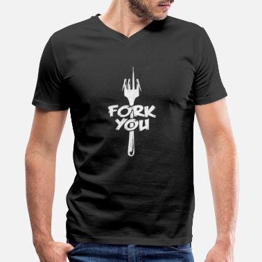 Culinary Fork You | Chef Quotes Puns Funny Sayings Cooking - Men's V-Neck T-Shirt