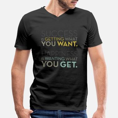 Successful Happiness Success - Happiness - Men's V-Neck T-Shirt
