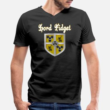 Fidget Spinner Fidget Spinner - Lord Fidget - Men's V-Neck T-Shirt by Canvas