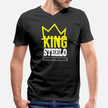 Capital Steez Capital STEEZ KING STEELO - Men's V-Neck T-Shirt by Canvas