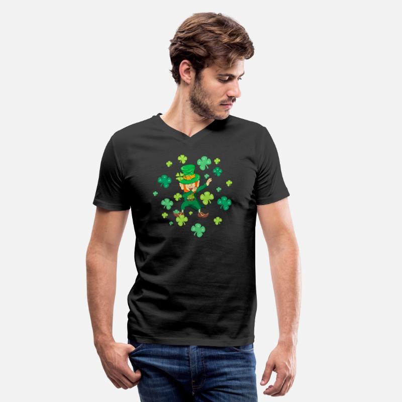 c42ffdd32 Lucky T-Shirts - St Patricks Day - Dabbing Leprechaun - Shamrock - Men's V