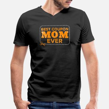 Coupons Best coupon mom ever Couponing Couponer Coupons - Men's V-Neck T-Shirt by Canvas