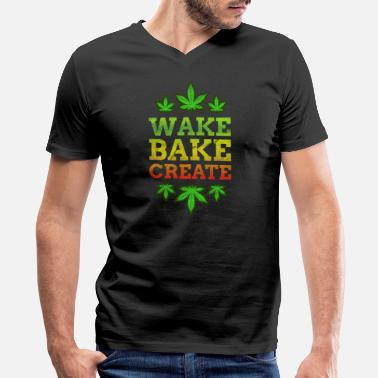 Joints Ganja Smoke Weed Cannabis Marijuana Ganja Blunt Joint - Men's V-Neck T-Shirt by Canvas