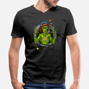Rapper Alien Gangster Rapper UFO Hip Hop Space - Men's V-Neck T-Shirt