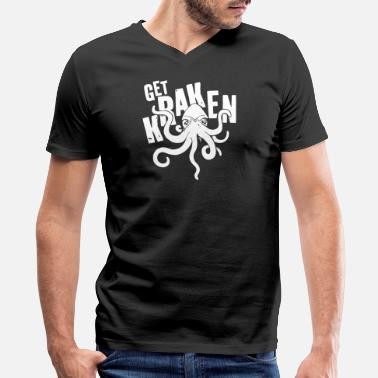 Kraken Get Kraken - Men's V-Neck T-Shirt by Canvas