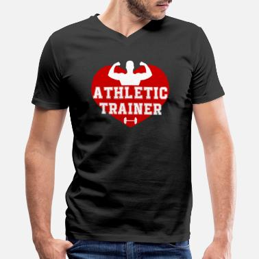 Athlete Love Love Athletic Trainer Shirt - Men's V-Neck T-Shirt by Canvas
