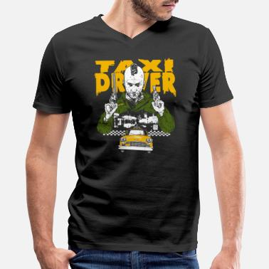 Taxi Driver Movie Taxi driver - Awesome t-shirt for taxi driver - Men's V-Neck T-Shirt by Canvas