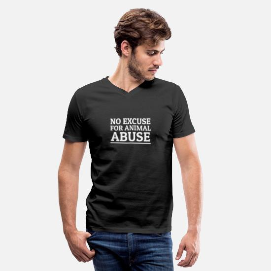 Animal T-Shirts - Stop Animal Abuse Animal Rights Animal Welfare - Men's V-Neck T-Shirt black