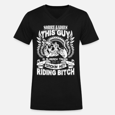 658a73ab Riding bitch - This guy is already taken by her Men's Premium T ...