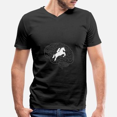 Horse Breed Horse Breed Addicted Horses Horseriding Rider Gift - Men's V-Neck T-Shirt