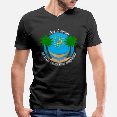 Heights Seaside Breeze #5 - Men's V-Neck T-Shirt by Canvas